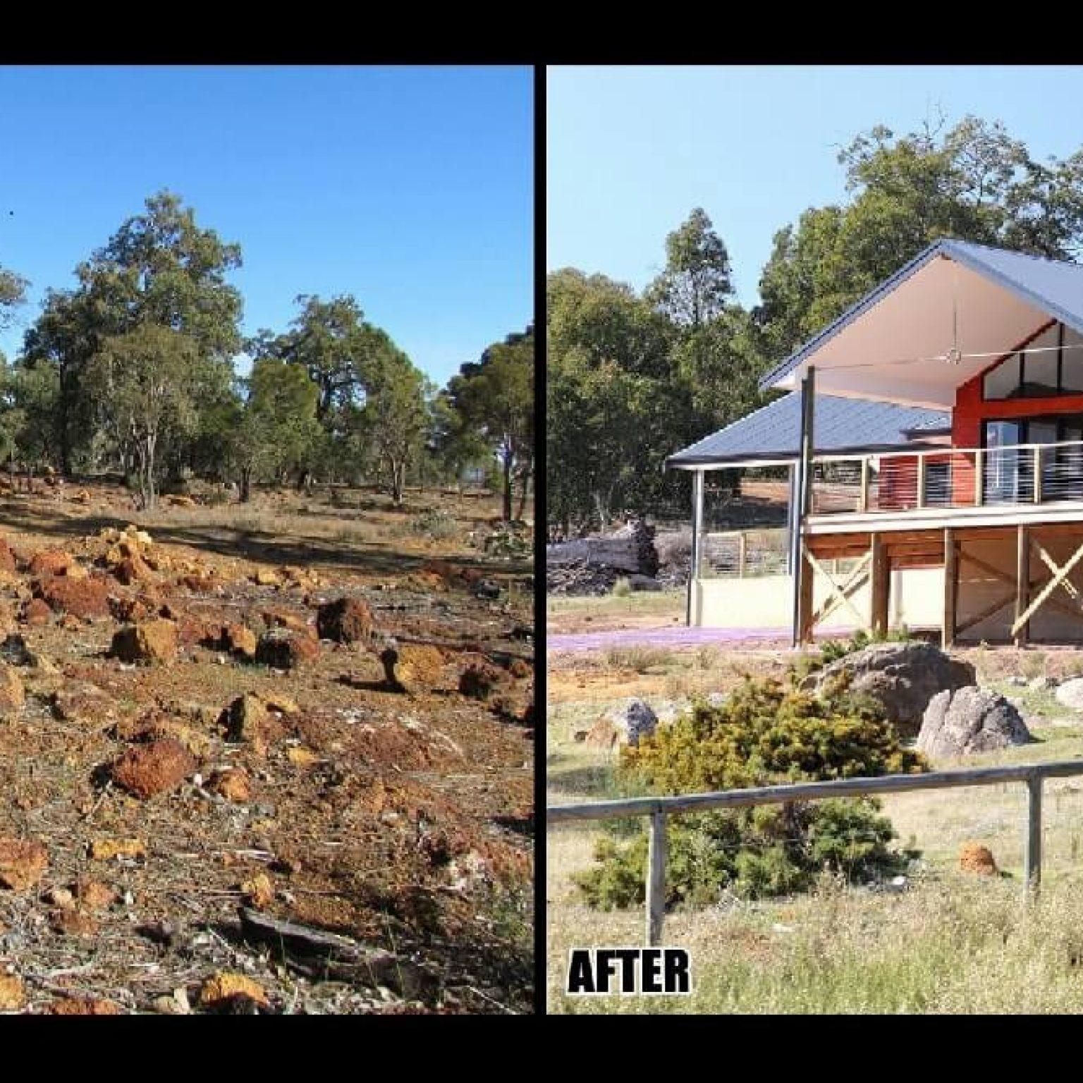 Rocky difficult site in Brigadoon, Western Australia