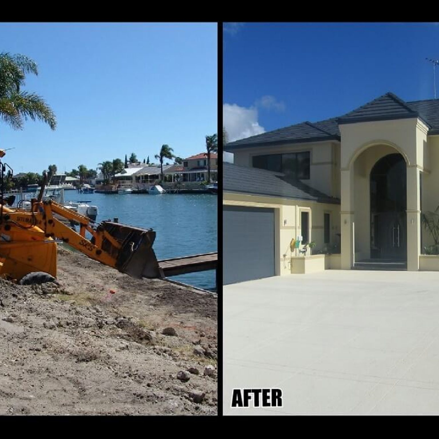 Difficult sandy site with limited access, Mandurah WA