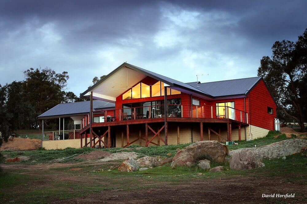 Custom built timber frame pole home in Brigadoon, Western Australia