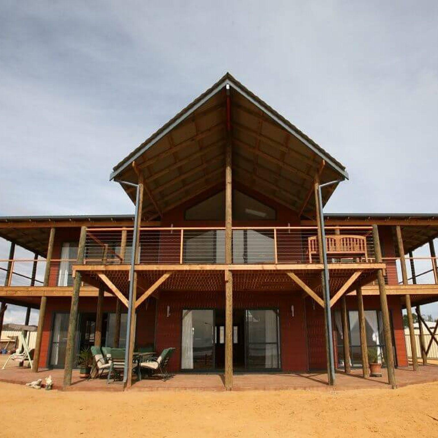 Custom built timber frame home in Kalbarri, Western Australia.