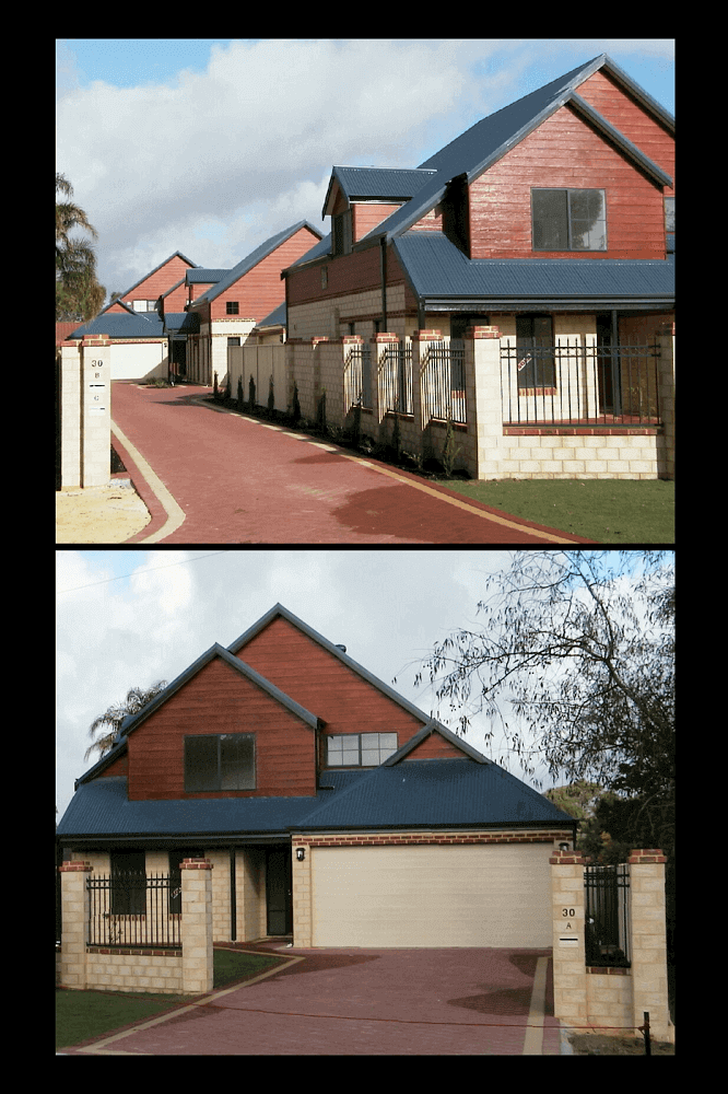 Custom built Brick and Timber townhouse units in Bassendean, WA