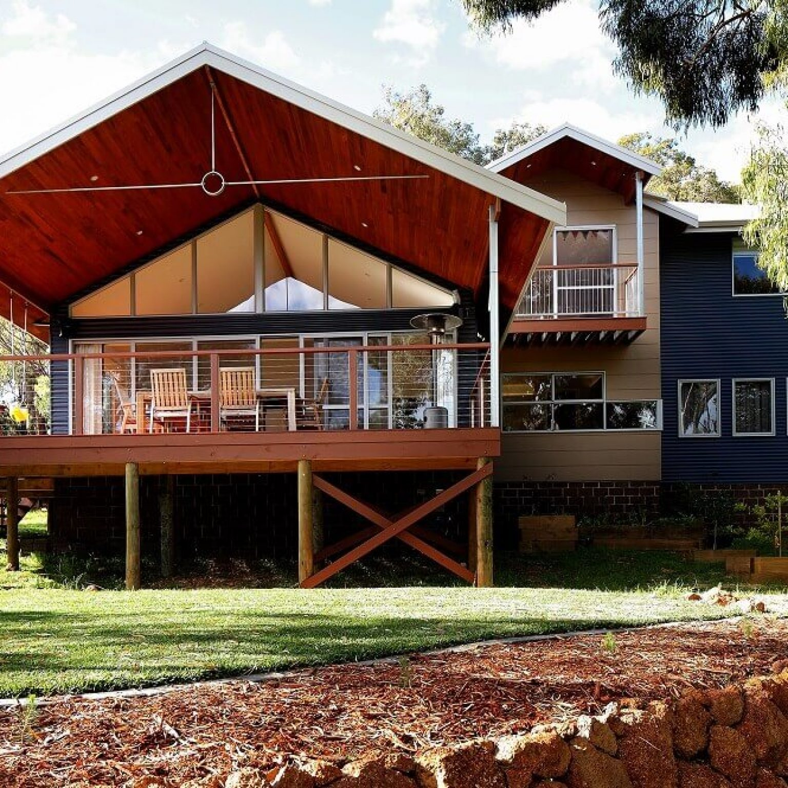 Custom built timber frame pole home in Darlington, Western Australia