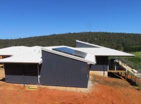 Solar panels installed