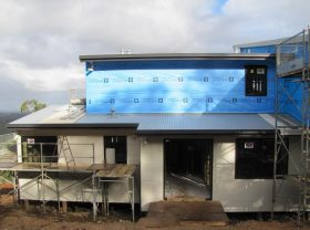 All wrapped up and cladding well underway