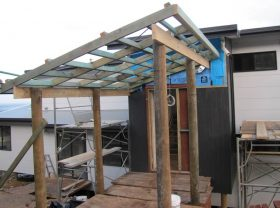 Entry Portico underway
