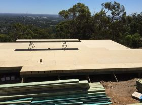 Floor sheeting underway for the lower storey