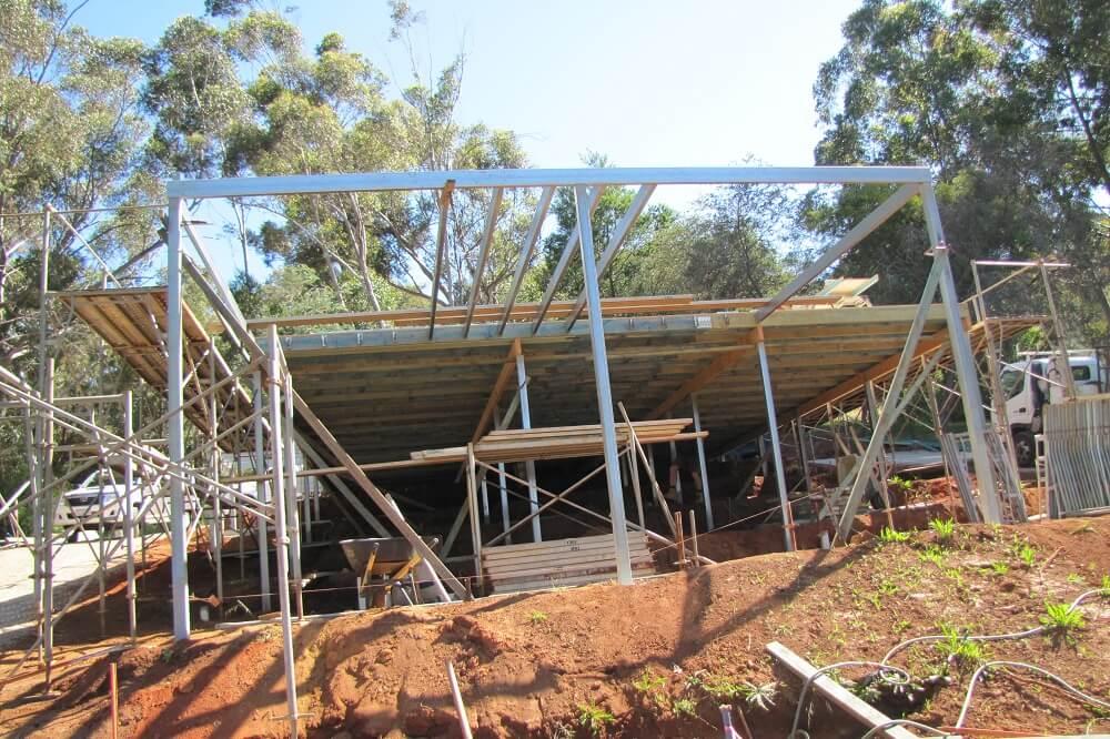 Timber frame steel pole custom built home Roleystone
