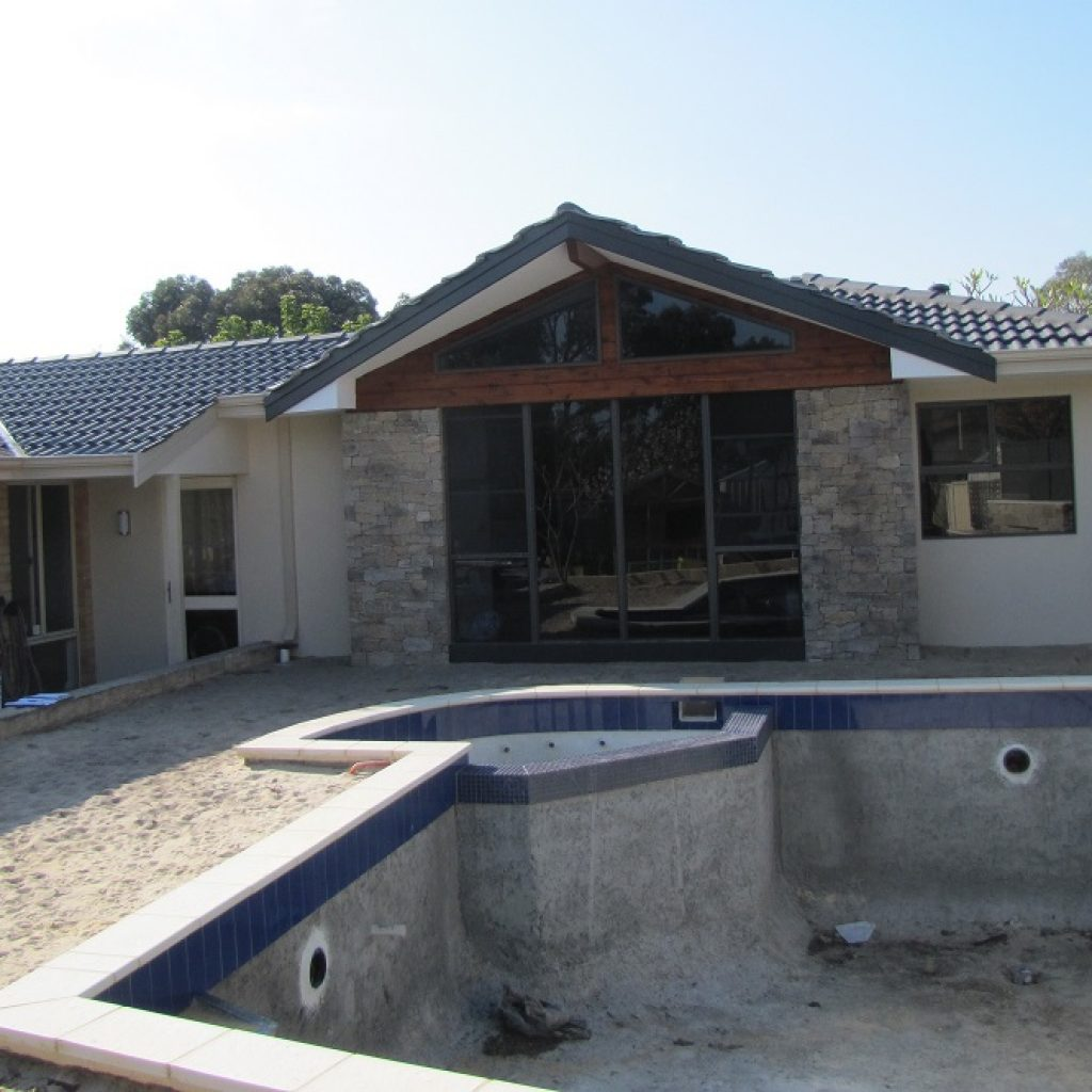 Home addition custom built home stone cladding perth