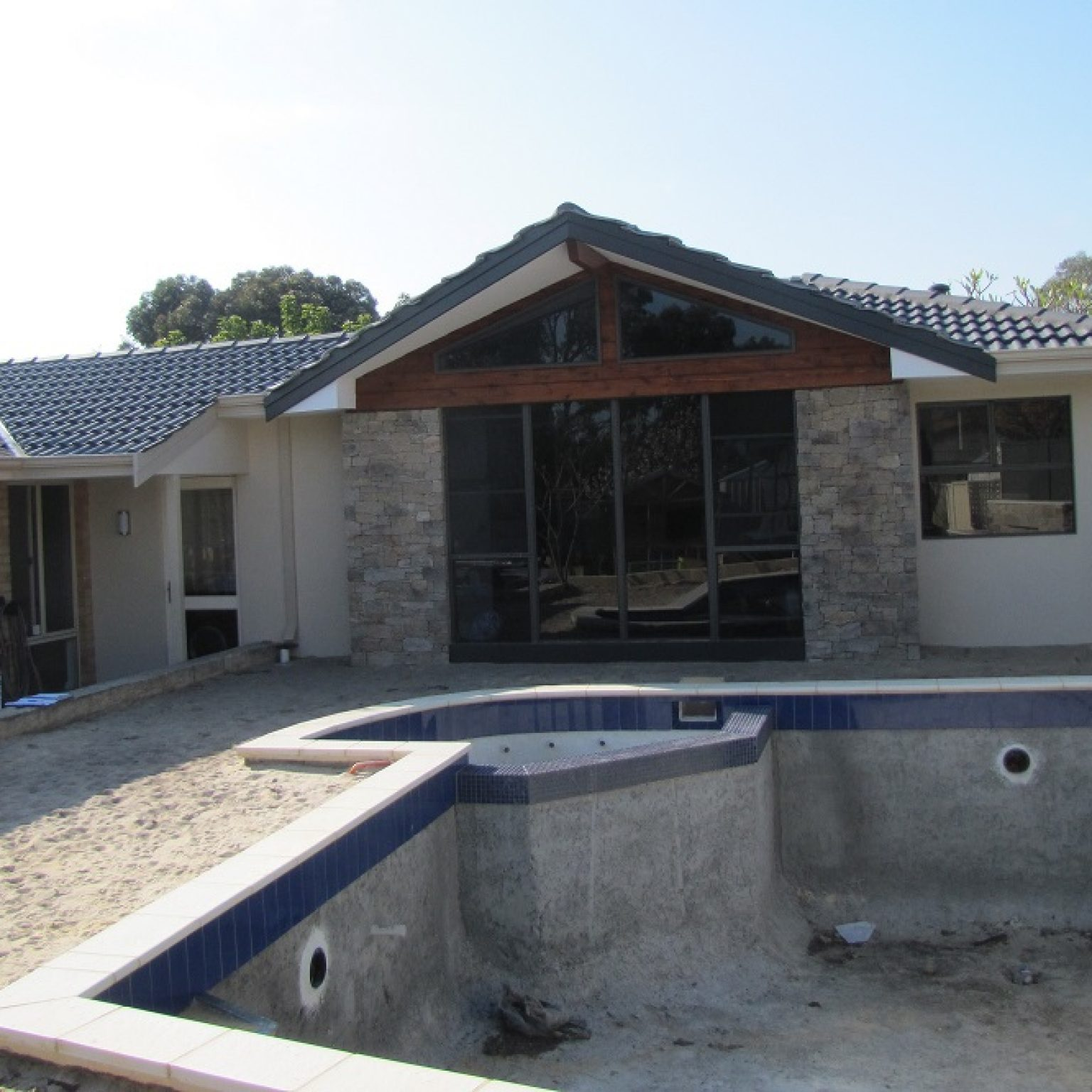 Home addition custom built home stone cladding perth